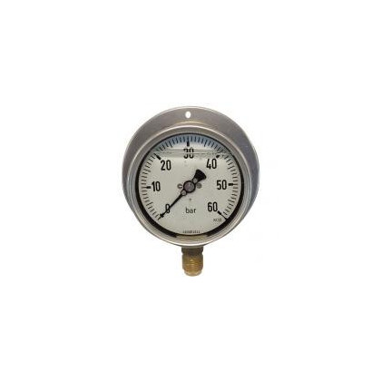 7212 / 7216 Manometers stainless steel cabinet, glycerine, brass, panel or wall fitted