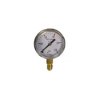 8600 Manometers zuurstof, acetyleen en argon/CO2 messing