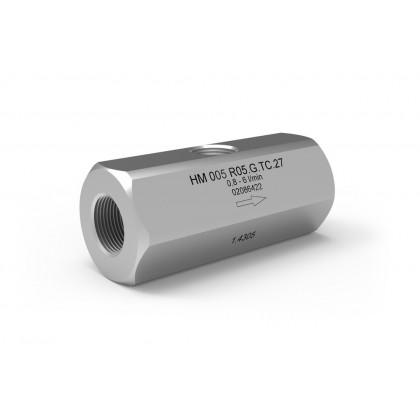 Turbineflowmeters met female inch schroefdraad (HM-R)
