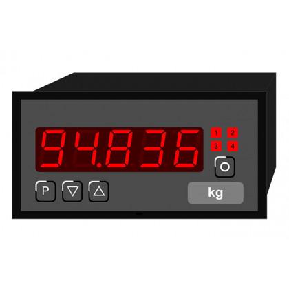 Indicateur numérique - Hauteur universelle du signal d'entrée 14 mm PU5 | 96 x 48