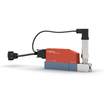 Digitale drukregelaars voor gassen met geïntegreerde flowmeting