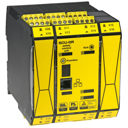 Safety control unit SIL3|PLe Compact-type Safe PLC suitable up to PL e (EN13849) or SIL3 (EN61508) SCU-DR | ID: CR