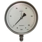 8500 Manometer precisie onderaansluiting messing