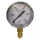 8600 Manometers oxygen, acetylene and argon / CO2 brass