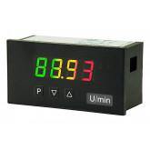Digitale indicator - DC stroom/voltage standaardsignaal, hoogte karakters 14 mm M1 tricolour | 96 x 48