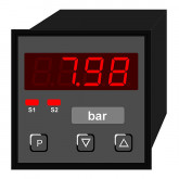 Digital Indicator Pressure, digit height 10 mm PDE4 | 48 x 48