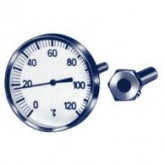 Thermometers bimetal fully stainless steel 63 mm